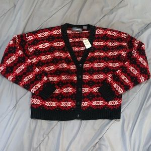 Deadstock Maurice's chenille Christmas Cardigan